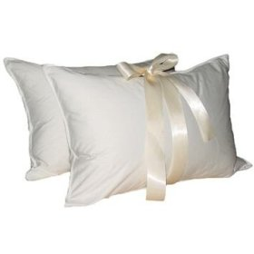 TWO DELUXE KING 50% 50% GOOSE DOWN FEATHER BED PILLOWS